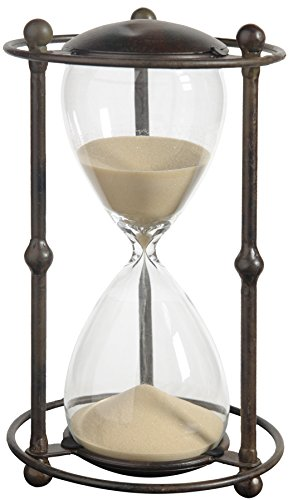 Large Hourglass (A&B Home 32082-TAN Hour Glass in Stand, 1 Hour, Tan, 6.2 by 12.5-Inch)