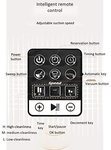 CHUTD Intelligent Timing Sweeper Aspirateur Domestique Balayeuse à Distance Rechargeable Trois-en-Un, Blanc (Couleur: Noir) Black