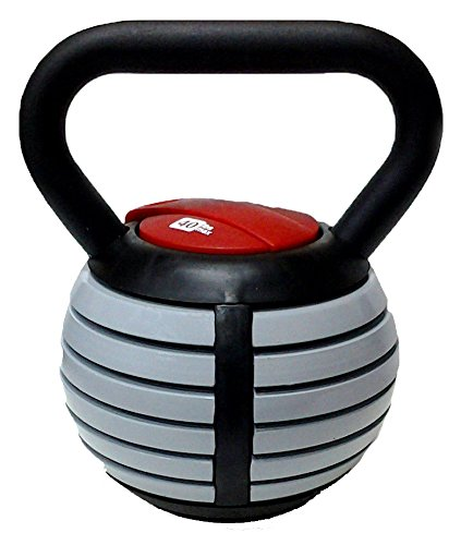 CFF Adjustable Russian Kettlebell Weights Includes DVD, 40-Pound by CFF