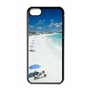 WJHSSB Print Island Beach Pattern PC Hard Case for iPhone 5C