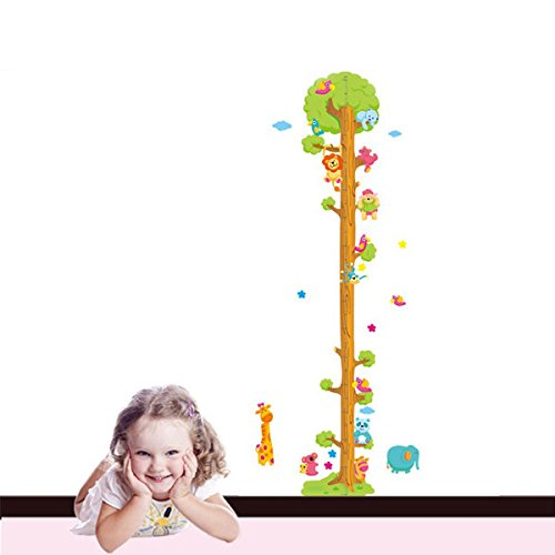 Pink Lizard Removerable PVC Animal Height Wall Sticker Cartoon Height Sticker by Pink Lizard Products (Image #5)