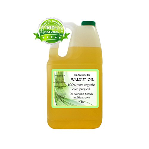 Walnut Oil Organic Cold Pressed 128 Oz / 7 Lb / One Gallon
