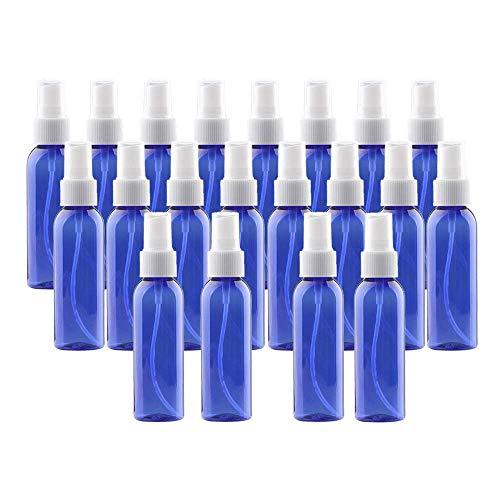 20pcs Plastic Spray Bottles 60ML- 2oz Empty Portable Refillable Makeup Clear Sprayer Bottle with Fine Mist Sprayer for Perfume, Essential Oils, Liquids, Aromatherapy, Travel