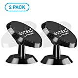 Magnetic Phone Holder, OSORIO Dashboard Phone Mount 360° Rotatable Car Phone Holder Sticky Magnetic Car Mounts Phone Cradle for iPhone 8 7 6s 5 Samsung Galaxy Note LG HTC Sony Huawei (Black-2 Pack)
