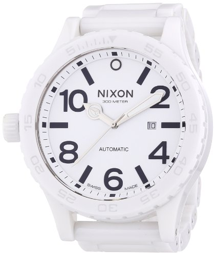(Nixon Men's A147-126 The 51-30 White Dial Ceramic Band Watch)