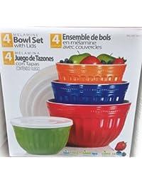 Investment Pandex Melamine Mixing Bowl Set - 4 Bowls and 4 Lids wholesale