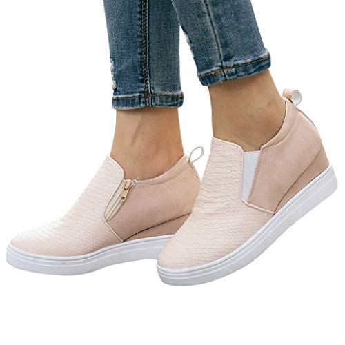 2019 New Women Three-Color Stitching Sandals Open Toe Casual Summer Beach Traveling Shoes Casual Sandals Comfortable Pink (Best Log Splitters 2019)