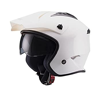 UNIK - Casco JET Trial CT-07 Blanco (XS - 53-54 CM