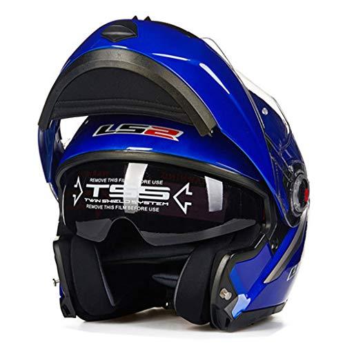 Lsrryd Helmets Moto Racing Shock Scooter Cruiser Modular Flip Up Scooter...