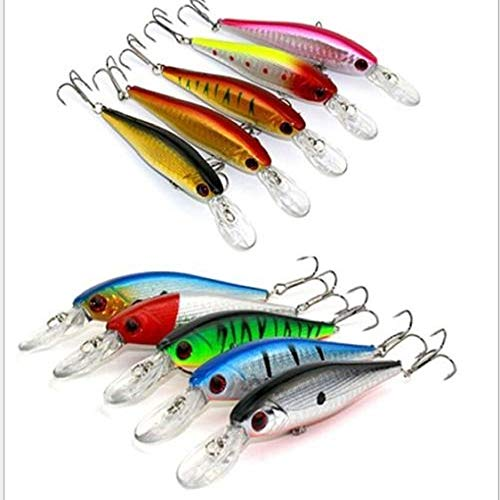 Bright Sun Fishing Lures Crankbaits Hooks Minnow Baits Tackle Crank #GSNH from Bright Sun