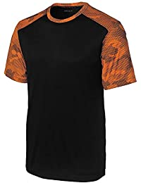 CamoHex Moisture Wicking Athletic Training T-Shirts. XS-4XL
