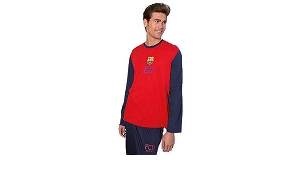 Pijama Oficial Hombre FC BARCELONA AzulGrana 2017-2018: Amazon.es: Ropa y accesorios