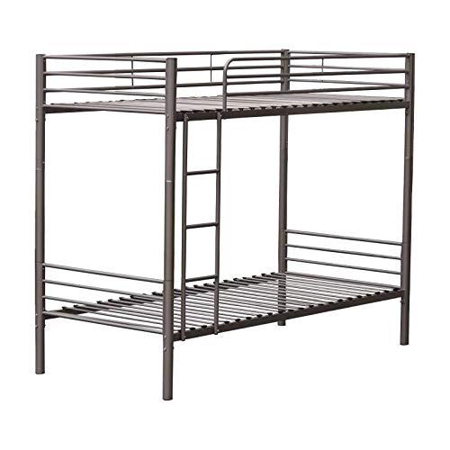 Litera metalica new, medidas 92 x 164 x 195 cm, color gris metálico: Amazon.es: Hogar