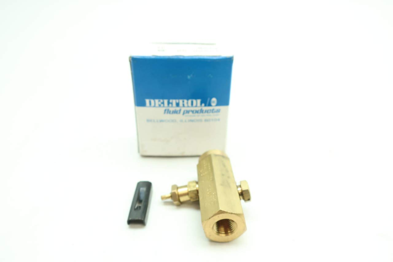 DELTROL F10B Pneumatic Flow Control Valve 1.5-12GPM 2000PSI 1//8IN NPT D660270
