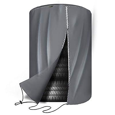Mr.You Seasonal Tire Cover,Seasonal & Tire Storage Bag,Waterproof Dust-Proof (Fits up to 25