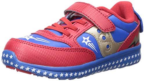 Saucony Baby Jazz Lite Sneaker, red/Blue/Superhero, 090 Medium US Toddler