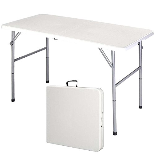 Supremus 4 Ft. Folding Table, Portable, High Utility, Perfect for Indoors, Outdoors, Picnics, Buffet/Party, Dining, Camping, Patio Table, 4 Feet by Supremus