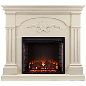 251 First Evelyn Ivory Electric Fireplace