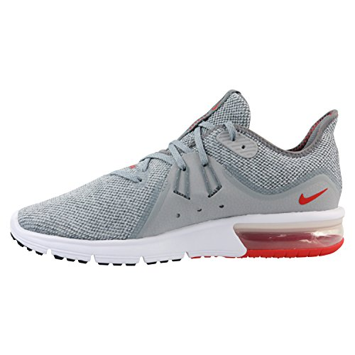 Nike Men's Air Max Sequent 3 Running Shoes Cool Grey/University Red 7 by Nike (Image #1)