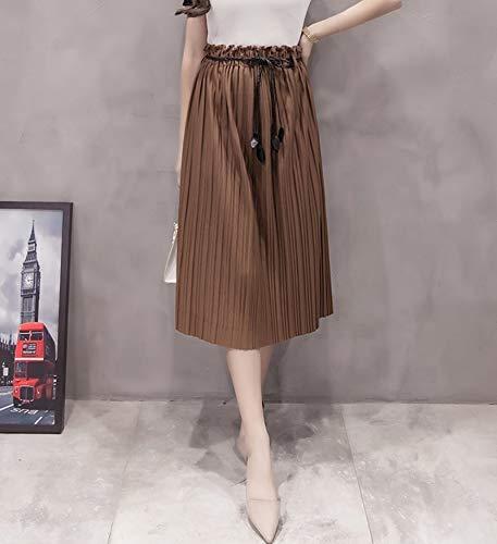 GDNTCJKY Faldas para Mujer Arco Sólido Decoración Falda Fajas ...