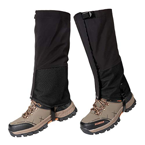 ACBungji Leg Gaiters Waterproof Snow Boot Gaiters 500D Three Layers Oxford Fabric Fit for Outdoor Hiking Camping Mountain Climbing (M-for US Shoe 5-6.5)