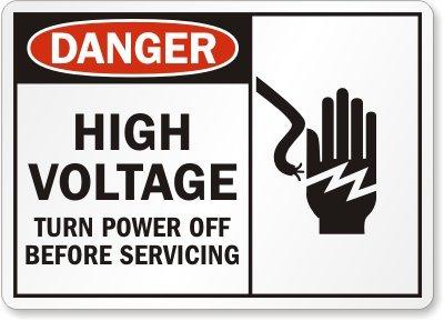 Apagado de alta tensión antes de la limpieza (con bloqueo de ...