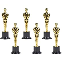 "Gold Award Trophies, 6"" Trophy Statues - Oscar Statues - Awards for Party Celebrations, Ceremony, Appreciation Gift, Sport Awards, Academy Awards, Awards for Teachers and Students (Set of 6)"