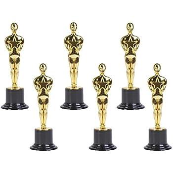 amazon com gold award trophies 6 trophy statues oscar statues