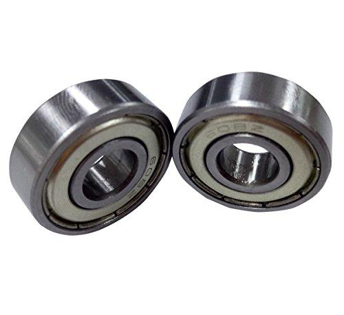 Antrader 10 Pcs Metal Shielded 608Z 8 x 22 x 7mm Deep Groove Ball Bearings Silver Tone