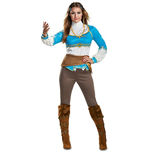 Disguise Women's Zelda Breath of The Wild Adult Costume, Blue, M (8-10) for $<!--$31.95-->
