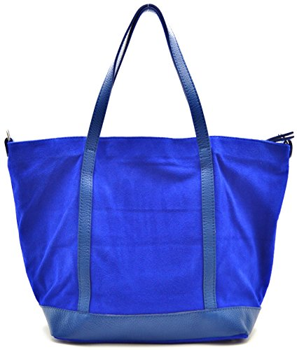 Blu Reale Mano Modello Shopping Borsa Oh A Irupu Bag My Nubuck Donna SB1Rv