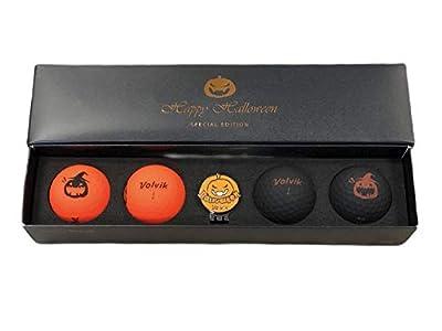 Volvik Vivid Happy Halloween Special Edition Golf Ball & Ball Marker Set