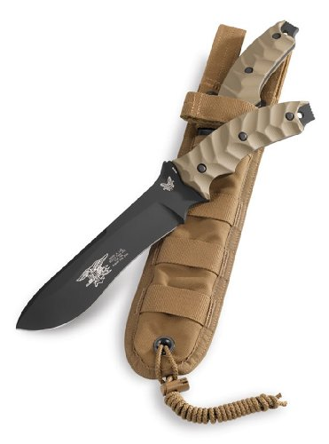 Benchmade Killian Design Marc Lee Glory Knife with BK1 Coating and FB Sheath, Outdoor Stuffs