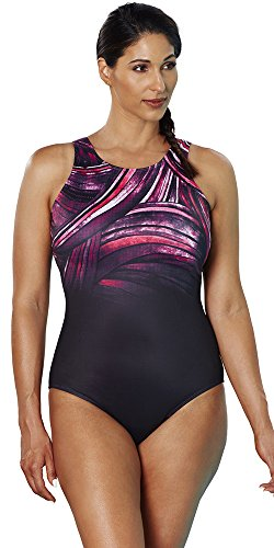 d40f5f3f60 Aquabelle Women s Chlorine Resistant High-Neck Swimsuit From Aquabelle