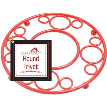 EuroHome 2271285 Red Deco Trivet - Case of 12 by Euro-Home