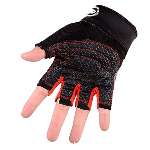 VDV Bicycle Accessories Half Finger Bike Bicycle Cycling Gloves Gym Fitness Boxing Sports Gloves Training Workout Weight Lifting Glove for Men Women Bicycle Accessories Lights-Black Red