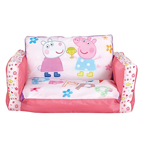 Peppa Pig Inflatable Chair For Kids With Removable Cover Flip Out Sofa Folds Out To A