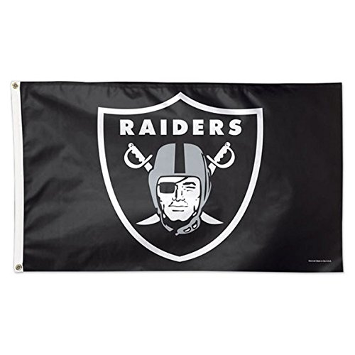 (WinCraft NFL Oakland Raiders 01820115 Deluxe Flag, 3' x 5' )