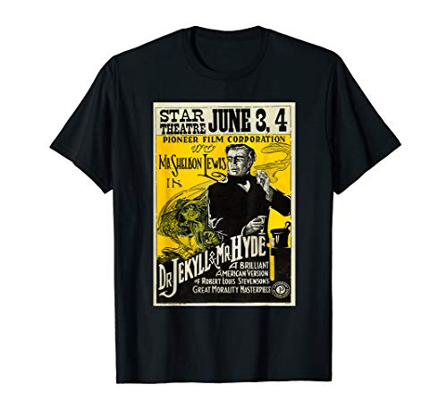 Dr. Jekyll and Mr. Hyde movie poster T shirt (Dr Jekyll And Mr Hyde Cliff Notes)