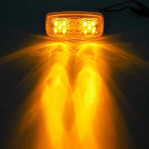 Partsam Five Trailer Marker LED Light Double Bullseye Amber 10 Diodes Clearance Light by Partsam (Image #8)