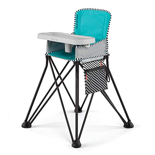 Summer Infant Pop 'n Sit SE Highchair (Sweetlife Edition), Aqua Sugar