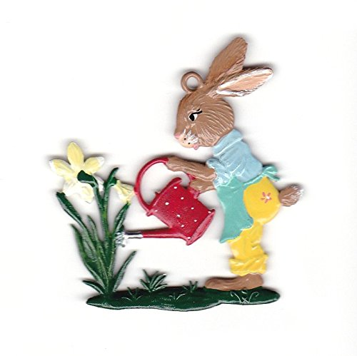 (Wilhelm Schweizer Easter Decoration Pendant of Pewter, Hare with Watering can)