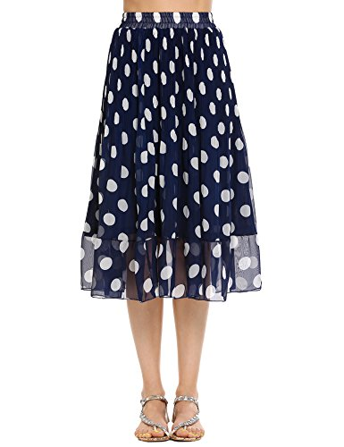 Poplin Midi Skirt Ruffle Hem Skirt (Silk Ruffle Skirt)