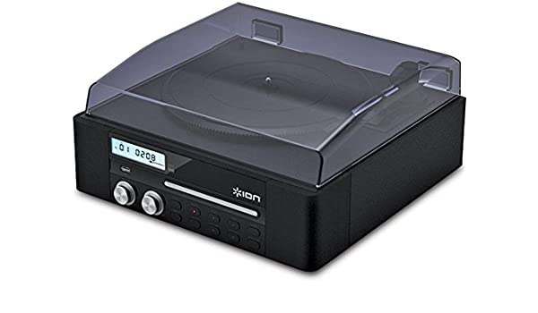 ION Audio CD Direct Negro - Tocadiscos (Negro, 33 1/3,45,78, USB ...
