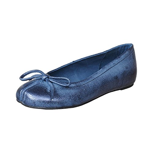 Blue Women's 105 Antelope Leather Ballet Metallic Slit q8gndYw