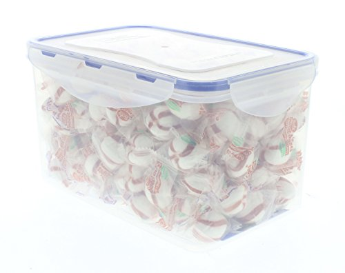 (BOB'S SWEET STRIPES candy in an Easylock Airtight, Watertight, and Stackable Container (1.5 LB))