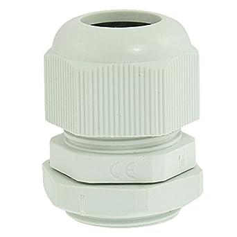 eDealMax PG16 plástico gris impermeable 10-14 mm de diámetro de Cable Glándula conjunta