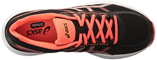 ASICS Women's Gel-Contend 4 Running Shoe, Black/Silver/Flash Coral, 8 M US