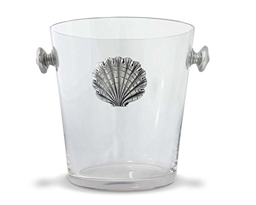 Vagabond House Glass Ice / Wine / Champagne Bucket with Pewter Shell Medallion by Vagabond House (Image #2)