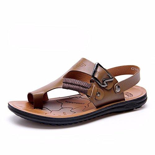 Das neue Männer Sandalen Männer Sommer Atmungsaktiv Strand Schuh Männer Sandalen Männer Rutschfest Freizeit Schuh ,Khaki,US=9,UK=8.5,EU=42 2/3,CN=44